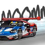 24h du mans illustration Ford GT