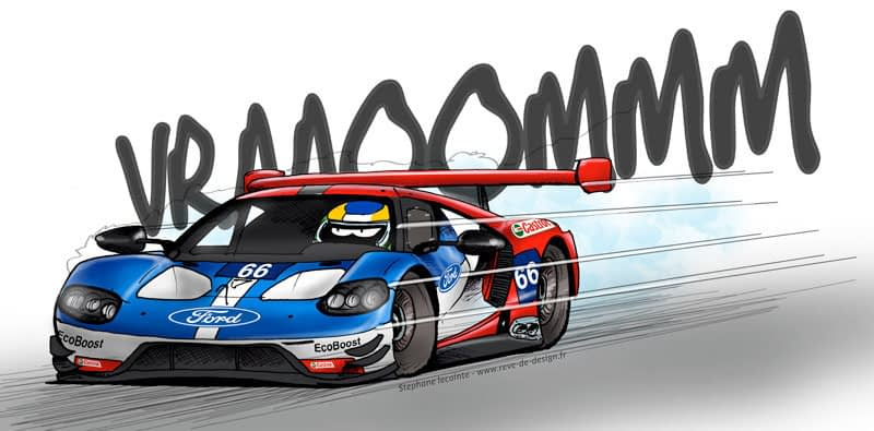 24h du mans illustration Ford GT
