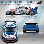 Alpine A110 GT4 décoration